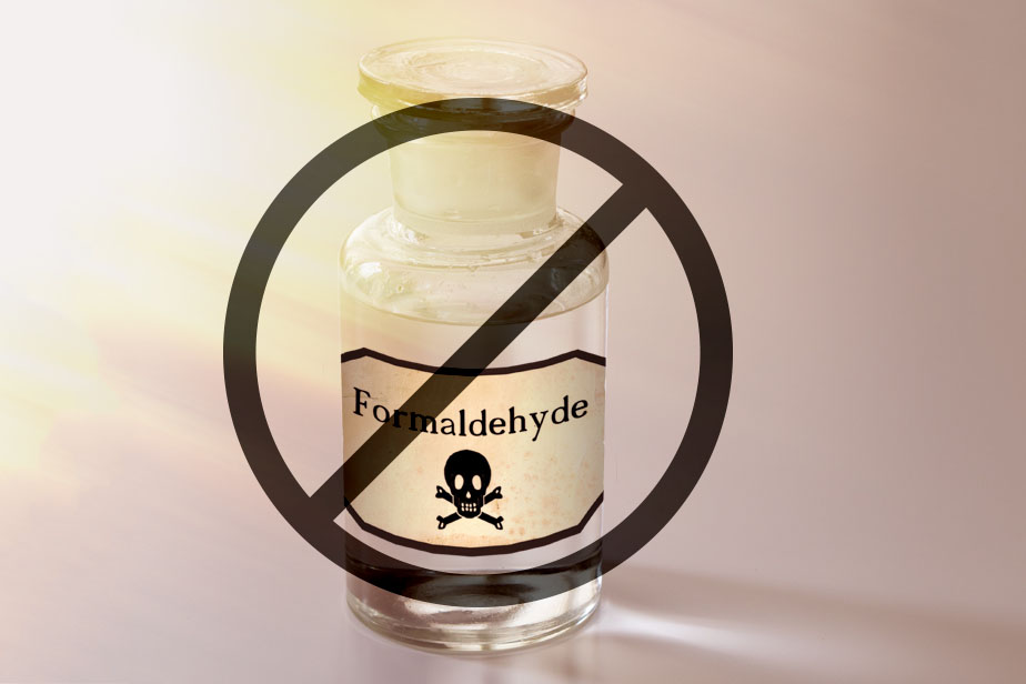 Formadehyde ban in cosmetics
